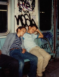 "Me and my bro, ""before trains were graffiti proof..."""